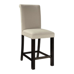 Standard Furniture - Standard Furniture Gateway White Parsons Barstool in Dark Chicory Brown [Set of - Impressive proportions and bold styling give Gateway Dining a dynamic contemporary personality.