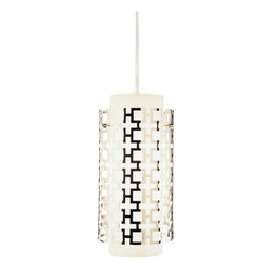 Robert Abbey - Robert Abbey Jonathan Adler Parker Pendant S663 - Polished Nickel over Metal