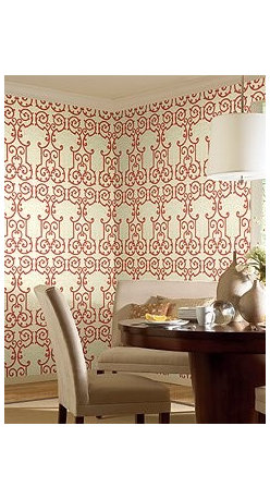 Wallcovering - Dining Room - A moroccan design scrapped on the dining walls