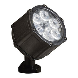 LANDSCAPE - LANDSCAPE 8.5W 35 Degree Spread Landscape LED Accent Light X-TKB24751 - A clear glass lens is surrounded by a clean, Textured Black finish that aids in creating a concealed light source for dramatic lighting from this Kichler Lighting outdoor LED accent light.