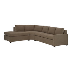 Lazar Industries - Terra Sectional:  Chaise and Adjacent 3-Seater Queen Sleeper in Bridge Iron - Terra Sectional:  Chaise and Adjacent 3-Seater Queen Sleeper:  Lazar's most compact model allows for a lot of comfort and style regardless of your space.