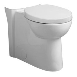 """American Standard - American Standard 3053.120.020 Studio Right Height Round Front Bowl,  White - American Standard 3053.120.020 Studio Right Height Round Front Bowl,  White. This round front bowl features a Right Height of 16-1/2"""", and comes with 2 bolt hole covers and a 5121.110 round front Duroplast toilet seat and cover."""