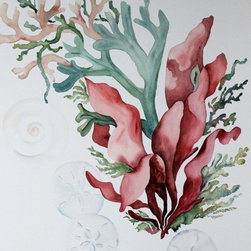 Under the Sea, Original Watercolor, Original Watercolor - There is so much to love about watercolor.  All of the shades and no color at all, with endless possibilities, even with only one image, we could explore it in infinite ways. Choice of original watercolor or giclee print.