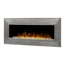 Dimplex - Dimplex Ashmead Wall Mount Electric Fireplace Multicolor - DWF42AG-1450SR - Shop for Fire Places Wood Stoves and Hardware from Hayneedle.com! The Dimplex Ashmead Wall Mount Electric Fireplace will delight your eyes with its beautiful metal craftsmanship and the romantic light of a lifelike LED flame over a reflective bed of glass and acrylic ice. This high-tech eco-friendly fireplace is a smart and stylish alternative to standard fireplaces requiring no ventilation and creating no harmful particulates or emissions. It functions as an energy-efficient heater for rooms up to 400 square feet and includes a remote control for easy functionality in any room. Its space-saving out-of-the-way wall mount makes this fireplace a perfect choice for any room in need of ambience and distinctive style.About DimplexDimplex North America Limited is the world leader in electric heating offering a wide range of residential commercial and industrial products. The company's commitment to innovation has fostered outstanding product development and design excellence. Recent innovations include the patented electric flame technology - the company made history in the fireplace industry when it developed and produced the first electric fireplace with a truly realistic wood burning flame effect in 1995. The company has since been granted 87 patents covering various areas of electric flame technology and 37 more are pending. Dimplex is a green choice because its products do not produce carbon monoxide or emissions.