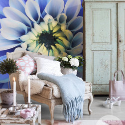 """Blue Aster - Vinyl Wall Mural """"Blue Aster"""" - from the collection """"The Secret Garden"""" by PIXERS"""