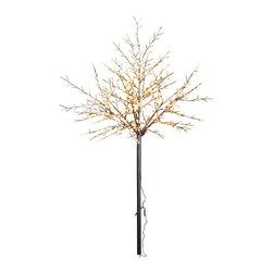 Lightshare - Lightshare 8Ft 600 LED Frosted Ball City Tree, 70 LED Solar Light - Description: