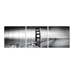 Elementem Photography - Golden Gate Bridge in Black and White Print - Mounting Instructions: