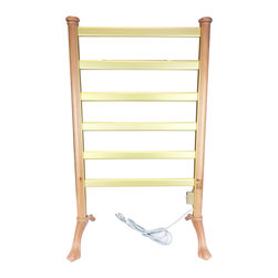 LCM Home Fashions - Wood Frame Freestanding Towel Warmer Drying Rack - This towel warmer drying rack is perfect for keeping towels warm and dry in the bathroom. The drying rack features an on/off switch. This comforting rack boasts a beautiful Wood frame finish.