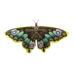 Zeckos - Beautiful Butterfly Decorative Wall Hanging Kite - This colorful kite doubles as a decorative wall hanging, and features a beautiful butterfly in flight. Crafted from nylon and bamboo, its wingspan measures 50 inches wide, and it is 28 inches long. The body of the butterfly is three-dimensional, giving some character to this piece. Some assembly is required, and step by step instructions are included to ensure success. It makes a wonderful gift, and adds a unique accent to your home decor.