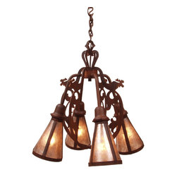 Steel Partners Inc - Chandelier - BAVARIAN MOOSE - Every piece we create is unique — handcrafted at our factory in Chehalis, Washington, USA. Due to this, lead times are 2 to 4 weeks.