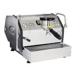 """La Marzocco - La Marzocco GS/3 1 Group Auto Espresso Machine - Technically, the La Marzocco GS/3 is a commercial machine, ready for use in a coffee shop or kiosk – but we're also selling it for the home. With dual stainless steel boilers for simultaneous brewing and steaming, a 118 oz water reservoir, separate stainless steel hot water and steam wands, a multifunction backlit keypad and easy to read digital display, programmable water volumes, adjustable temperature control and more, we figured that this machine was too good to hide from a retail audience. If you're ready to blur the line between """"consumer"""" and """"professional,"""" or if you think the line never really existed in the first place, then you're ready to take a closer look at the respected and reputable La Marzocco GS/3. This machine has a 2 year warranty."""