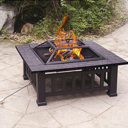32-inch Alhambra Fire Pit with Cover - On the lowest end of the price range is this simple yet cute fire pit. It's nicely built and decorated with detail.
