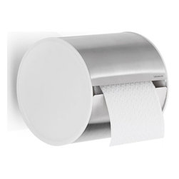 Blomus - Sento 5.51 in. Closed Toilet Paper Holder - Contemporary design. Conveniently holds toilet roll paper out of sight. High gloss white end caps. Interior innovation award 2012 winner. Made from 18/8 stainless steel. 5.91 in. W x 5.51 in. D x 5.39 in. H (1.31 lbs.). Includes mounting hardware. Floz designer. Imported from Italy. Installation InstructionsThe new blomus Sento bathroom collection allows you to coordinate all bath accessories in style.
