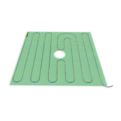 "Warmly Yours - WarmlyYours Tempzone Twin Shower 120V 48"" X 48"", 16.0 sq.ft. - The TempZone Shower Floor Mats ensure that your first step into your shower is a warm and soothing experience. The Shower Floor Mats are engineered to cover traditional shower floor areas and have taken the shower drain into consideration. Each Shower Floor Mat is designed with a wire-free drain for fast and easy installation. Now that's smart. The TempZone Shower Bench Mats guarantee that the time spent in your shower will be warm and inviting. The Shower Bench Mats are configured to the slim design of shower benches. Each size is smartly designed to cover a standard bench width and length."