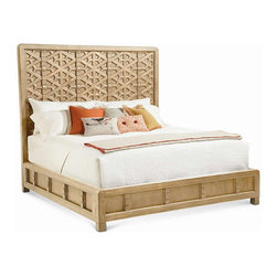 Large as Life Bed - The wood detailing on this Caracole bed is like art.