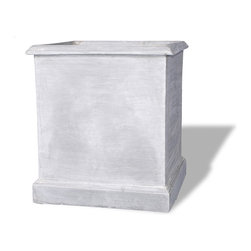 Amedeo Design, LLC - USA - Square Planter Without Icon - Our Square Icon Planter is truly unique and has tremendous versatility inside or out. Being made from lightweight ResinStone, it is also easily moved to different locations, yet by looking at it you would think it is made from stone. Though they look like ancient European & Mediterranean designs in carved stone, our products are made of lightweight weatherproof ResinStone. So authentic, you actually have to lift these planters to convince yourself they're not stone at all! Made in USA.