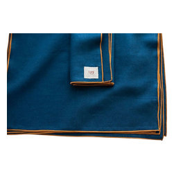 "Non-Perishable Goods - Traditional Napkins Portland Collection Set of 6, 17""x17"", Cloud with Steel - We believe that food....and drink!.... Tastes better and is more appreciated when accompanied by a cloth napkin! (not to mention creates less waste!)"