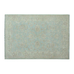 Oriental Rug, 3'X5' Stone Wash Ziegler Mahal 100% Wool Hand Knotted Rug SH11958 - Hand Knotted Oushak & Peshawar Rugs are highly demanded by interior designers.  They are known for their soft & subtle appearance.  They are composed of 100% hand spun wool as well as natural & vegetable dyes. The whole color concept of these rugs is earth tones.
