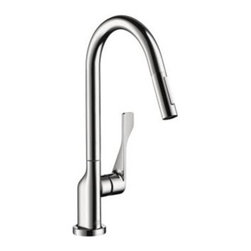 Axor - Hansgrohe - Axor Citterio Pull Out Kitchen Faucet - 39835001 - Chrome - Antonio Citterio pays tribute to the element of water with a particularly elegant, minimalist collection. Axor Citterio lets us truly enjoy the time we spend in the bathroom. With his most precisely formed surfaces and edges and his beautiful details, the richness of which becomes clear on a second glance. In a bathroom in which living and rejuvenation are intentionally cultivated.