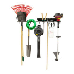 Garage Storage Products - Hold up to 200lbs of your gardening tools, hoses, or wheelbarrows!