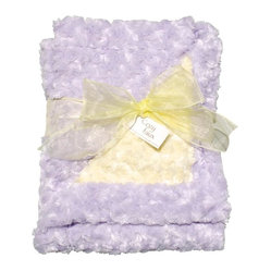 Belle & June - Baby Blanket, Lavender and Yellow - A wonderful gift to give or receive, this luxuriously soft blanket is sure to become baby's (and mom and dad's) favorite. It offers a warm embrace that will chase the chill away.