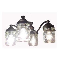 Mason Jar Ceiling Fan Light Kit Oil Rubbed Bronze A