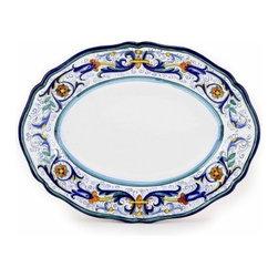 Artistica - Hand Made in Italy - Vecchia Deruta: Oval Platter - Vecchia Deruta Collection: (Old Deruta)