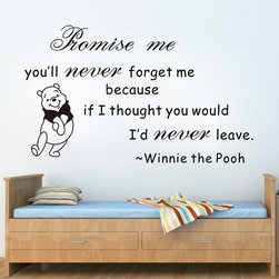 ColorfulHall Co., LTD - Kids Wall Decals Promise Me You'll Never Forget Me - Kids Wall Decals Promise Me You'll Never Forget Me