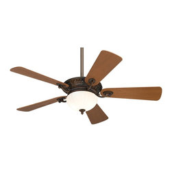 """Minka Aire - Traditional 52"""" Minka Aire Volterra Bronze Ceiling Fan - Quiet ceiling fan style from Minka Aire. Volterra bronze™ finish motor with a ribbed integrated light. Natural walnut blades have 14 degree blade pitch and a 52"""" blade span. Comes with 3 1/2"""" and 6"""" downrods and a wall mount Touch Control™ system with independent uplight and downlight control. Includes six 15 watt candelabra bulbs for the uplight and two 50 watt mini-can halogen bulbs for the downlight. A Minka Aire Designer series fan. (UM)  Volterra bronze™ finish.  Natural walnut blades.  Includes wall control.  Includes six 15 watt candelabra bulbs.  Includes two 50 watt mini-can halogen bulbs.   14 degree blade pitch.  52"""" blade span.  Fan height 8-3/4"""" blade to ceiling (with 3-1/2"""" downrod).  Fan height 15-1/2""""ceiling to light kit (with 3-1/2"""" dwonrod).  Includes 3 1/2"""" and 6"""" downrods."""