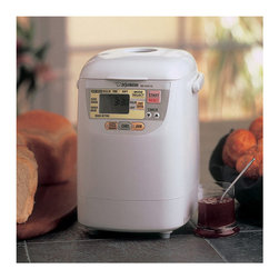 Frontgate - Zojirushi Home Bakery Mini Breadmaker - Savor the delicious taste and aroma of freshly baked bread with our Zojirushi Home Bakery Mini Breadmaker. Perfect for singles or smaller families, it makes a 1-lb. loaf that lets you enjoy the freshest bread without waste. Space-saving design is ideal for kitchens with limited counter space.Quick baking cycle prepares bread in about 2 hours. LCD control panel. Select from regular, firm or soft bread texture. Fresh-fruit jam cycle. Makes cookie and pasta dough. 13-hour delay timer. Includes recipe booklet.