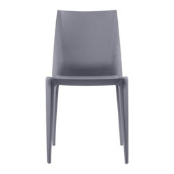 "Heller - Mario Bellini Dining Chair - Practical yet stylish, this multi-faceted and adaptable injection molded stacking chair is sure to accentuate the ambience in any indoor/outdoor commercial, institutional or residential setting. This chair is constructed of one piece injection molding of modified, fiberglass reinforced polypropylene with a lightly textured, fully washable surface. The flexing action of the back provides a high degree of comfort for anyone sitting in this elegant chair. For your cherished hardwood floors, the legs are provided with pads to eliminate scratches. Meticulously designed, yet moderately priced, this comfortable and aesthetically pleasing chair will definitely be an eye-catcherFeatures: -One piece injection molding of modified, fiberglass reinforced polypropylene. -Seat height: 18"" from the ground. -Suitable for indoor/outdoor commercial, institutional and residential use. -Flexing action of back provides high degree of comfort. -Legs are provided with pads for hard surface flooring. -Stacks up to six high. -Overall Dimensions: 33.1"" H x 17.3"" W x 18.1"" D."