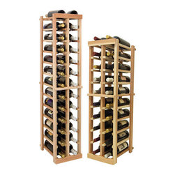 Wine Cellar Innovations - 2 Columns Individual; Vintner: Rustic Pine, Unstained, 4 Ft - Each wine bottle stored on this two column individual bottle wine rack is cradled on customized rails that are carefully manufactured with beveled ends and rounded edges to ensure wine labels will not tear when the bottles are removed. moved. Purchase two to stack on top of each other to maximize the height of your wine storage. Moldings and platforms sold separately. Assembly required.