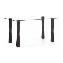Zuo Modern - Zuo Stilt Counter Pub Table in Espresso - Counter Pub Table in Espresso belongs to Stilt Collection by Zuo Modern The Stilt table makes entertaining easy with its counter height and large expansive top. It has a thick tempered glass top attached to leatherette with stitching wrapped legs through fused aluminum plates, seats six easily. Pub Table (1)