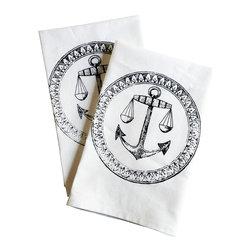 The Coin Laundry - Anchor Cotton Napkin Set of 4 - Ahoy!