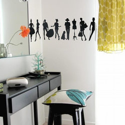 Ferm Living Fashion Wallpaper - With Ferm Living WallStickers it is easy to create a new look and change the style in a room in a matter of minutes. By using WallStickers, your kids can also help decorate their own room in an array of colors.