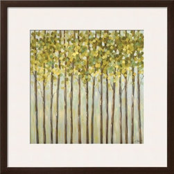 Artcom - Different Shades of Green by Libby Smart - Different Shades of Green by Libby Smart is a Framed Art Print set with a SOHO Espresso wood frame and a Polar White mat.