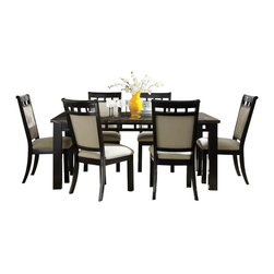Standard Furniture - Standard Furniture Gateway Grey 7-Piece Dining Room Set in Dark Chicory Brown - Impressive proportions and bold styling give Gateway Dining a dynamic contemporary personality.