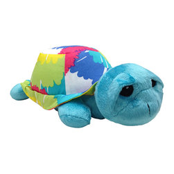 "Terrific Tie Dye - Stuffed Toy - Turtle - This is the cutest little Turtle in town!  ""Rainbow"" is the name of this collections ""stuffy"" and a must have for any and all ages.  ""Rainbow"" is designed with our soft aqua blue minky fabric and her shell adds all the color with the collections ""Tie Dye"" cotton print fabric.  You can't forget this little friend!"
