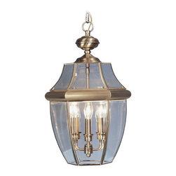 Livex Lighting - Livex Lighting 2355-01 Monterey Outdoor Pendant Antique Brass - -Finish: Antique Brass
