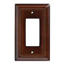 Liberty Hardware - Liberty Hardware 126341 Wood Architectural WP Collect 3.39 Inch Switch Plate - Provide a decorative appearance for a GFCI receptacle or light switch with this Liberty Architectural MDF 1-Gang Espresso Rocker Switch Wallplate that comes with mounting screws for easy installation. Width - 3.39 Inch, Height - 5.5 Inch, Projection - 0.4 Inch, Finish - Espresso, Weight - 0.13 Lbs.