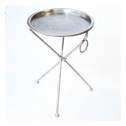 Collapsible Cocktail Tray Table - Adding some extra table space for your guests' drinks and food is a good idea when you're hosting a party. Place trays like these throughout the room, and your guests can move around and mingle and not get stuck around the kitchen island.