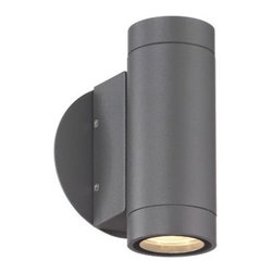 Possini Euro Graphite LED 6 1/4-Inch-H Outdoor Wall Light -