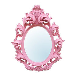 Pink Decorative Wall Mirror