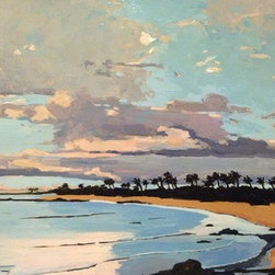 """Keawakapu Beach Maui  (Original) by Stacy Vosberg - This is one of my favorite beaches on Maui. I take my dog """"Oliver"""" to watch the beautiful sunsets."""