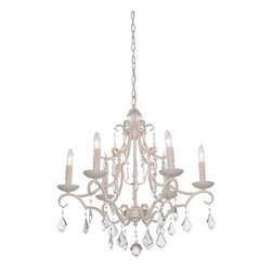 Artcraft Lighting - Antique White 6 Light Chandelier - Classics never go out of style by definition. The Vintage collection is no exception. An instant classic.