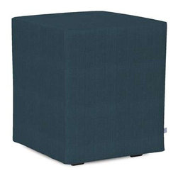 Howard Elliott Sterling Indigo Universal Cube Ottomans - Simple design, infinite uses. Cubes make great side tables, ottomans, alternate seating and more. Constructed by our expert craftsmen, our Cubes are made with a sturdy base and high-density foam.