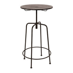 Benzara - Vintage Inspire Metal Bar Table 45in.H, 23in.W - Size: 45 high x 23 wide x 23 depth (inches)