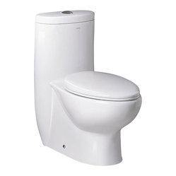 Ariel Bath - Ariel Platinum Hermes Toilet Dual Flush - Ariel cutting-edge designed one-piece toilets with powerful flushing system. Its a beautiful, modern toilet for your contemporary bathroom remodel.