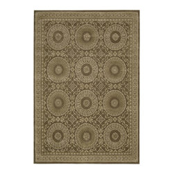 "Nourison - Nourison Versailles Palace Transitional Circles Mocha 3'6"" x 5'6"" Rug by RugLots - Fit for royalty, as the name suggests! This collection features stunningly elegant designs inspired by 18th Century French carpets and handmade with intriguing articulation from the highest quality wool. Features a dense, luxurious pile and hand-carved for added dimension with delicate accents that are a pleasure to both look at and touch."