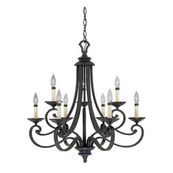 Designers Fountain - Designers Fountain 9039-NI 9 Light Candelabra Chandelier from the Barcelona Coll - Features: